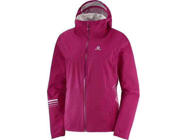 Salomon Lightning WP Running Jacket Women pink